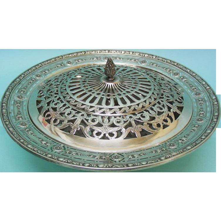 American Sterling Silver Pot Pourri Bowl By Meriden Britannia Company Connecticut ca 1900
