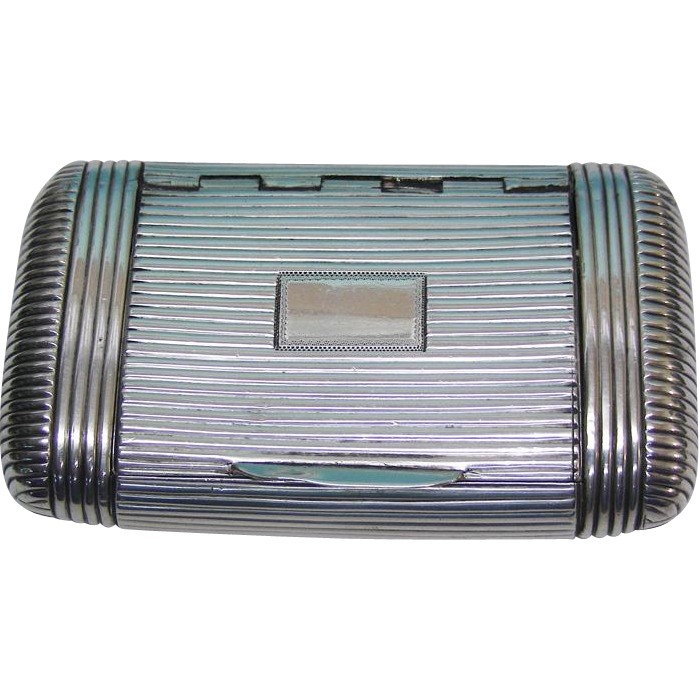 George III Sterling Silver Tobacco Snuff Box London England 1808