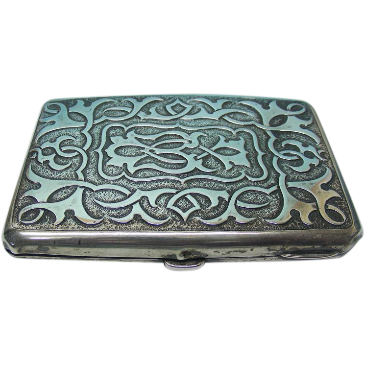 Sterling Silver Aide Memoire / Card Case, Sampson Mordan, London, 1894