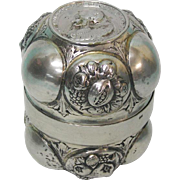 Rare Antique Continental Silver Double Wine Cup, Ca 1750