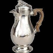 Rare Antique German Silver Tea Coffee Pot By Jakob Wilhelm Kolb Augsburg 1773-1775.