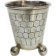 Rare Antique German Silver Scales Beaker / Cup, Ca 1800
