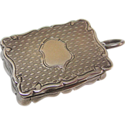 Antique Sterling Silver Vinaigrette By George Unite, Birmingham, England, 1882.