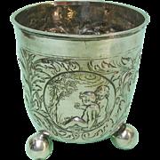 Extremely Rare Antique Danish Silver Beaker By Jacob Sorensen, Copenhagen, 1699
