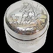 German Silver Pot & Cover By Ludwig Neresheimer & Sohne, Hanau, Ca 1900