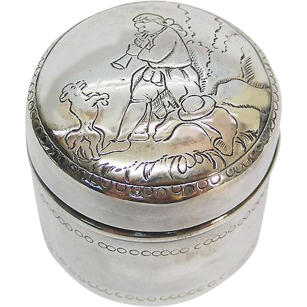 German Silver Pot & Cover By Ludwig Neresheimer & Sohne, Hanau, Ca 1900