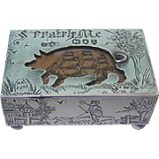 Novelty Victorian Sterling Silver Matchbox Cover By Andrew Barrett & Sons, London, England, 1892