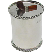 Novelty Sterling Silver Tobacco Jar By Josiah Williams & Co, London, England, 1897.
