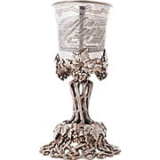 Huge Silver Goblet Cup By Humbert & Sohn, Berlin, Germany, Circa 1850.