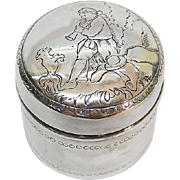 German Silver Pot & Cover By Ludwig Neresheimer & Sohne Hanau Ca 1900