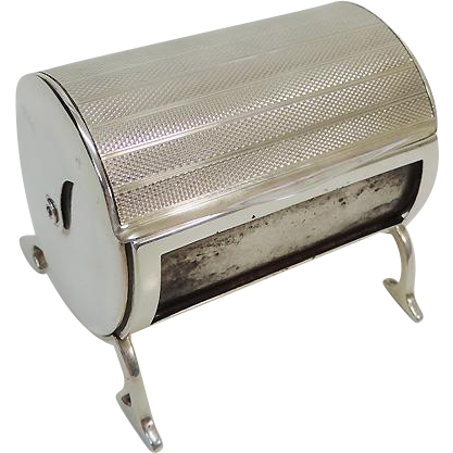 Sterling Silver Smoker's Long Matches Dispenser By Sampson Mordan London England 1932