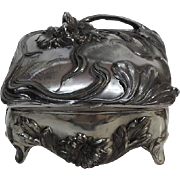 WMF Art Nouveau Pewter Jewelry Box, Germany, Ca 1900.