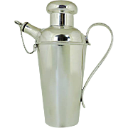 Silver Plated Cocktail Shaker By Harrison Brothers & Howson, Sheffield, England, Circa 1920.