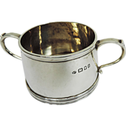 Sterling Silver Two Handled Sugar Bowl, Josiah Williams, London, England, 1933.