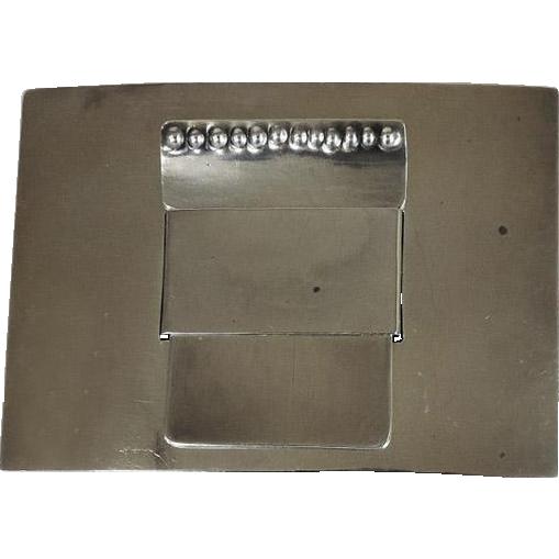 Sterling Silver 3pcs Belt Buckle By Harman & Co, London, England, 1935.