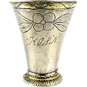 Swedish Rare Antique Silver Beaker, 1794.