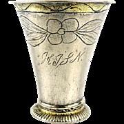 Swedish Rare Antique Silver Beaker, 1794.