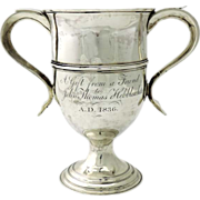 George III Sterling Silver Two Handled Trophy Peter & Ann Bateman London England 1797
