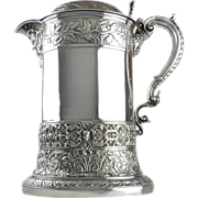 Hunt & Roskell Sterling Silver Flagon Tankard, London, England, 1891