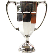 Sterling Silver Two Handles Trophy Cup London England Ca 1930