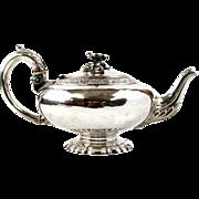 Francois Durand Sterling Silver Teapot, Paris, France, 1828-1874.