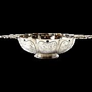 Dutch Silver Twin Handled Brandy Bowl, Leeuwarden, Netherlands, 1895.