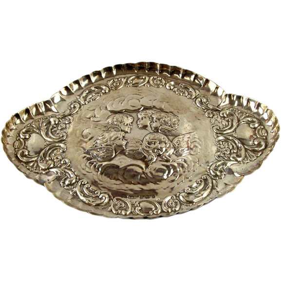 Edwardian Sterling Silver Reynolds Angels Dressing Table Tray By Reynolds & Westwood England 1906