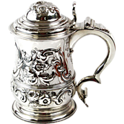 George II Sterling Silver Tankard By Thomas Whipham, London, England, 1743.