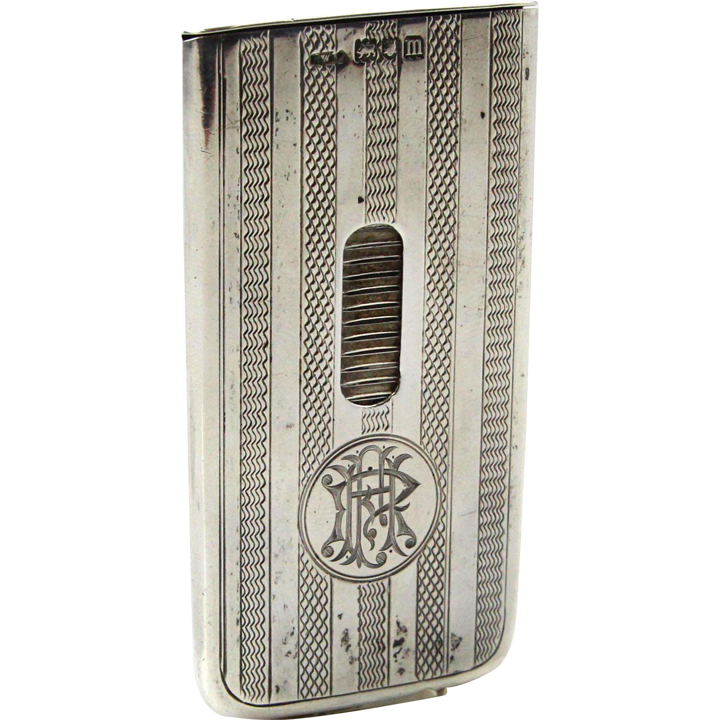 Novelty Sterling Silver Patent Visiting Business Card Case, Henry Williamson, London, England, 1907