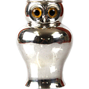 Novelty Sterling Silver Owl Milk Jug Creamer William Hutton and Sons London England 1896
