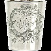 Silver Liqueur Cup Beaker By Hugo Bohm, Germany, Ca 1900.