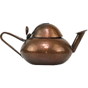 Arts & Crafts Copper Oil Lamp, France, Ca 1900.
