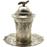 Silver Cup and Cover on Saucer, Ottoman Empire / Turkey, Circa 1930.