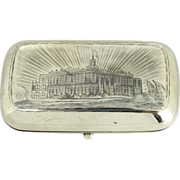 Silver and Niello Cigarette Case by Alexander Yegarov Moscow Russia 1879