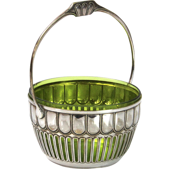 WMF Silver Plated Sugar Basket Germany Circa 1910