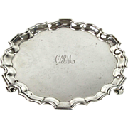 Sterling Silver Salver by William Charles Fordham & Albert Faulkner, Sheffield, England, 1911.