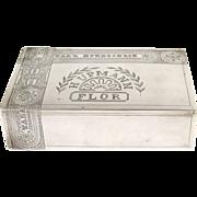 Silver Trompe lOeil Cigar Box Ivan Khlebnikov Moscow Russia 1896-1908.