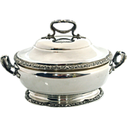 Tetard Freres Sterling Silver Soup Tureen Serving Dish Paris France Circa 1903.