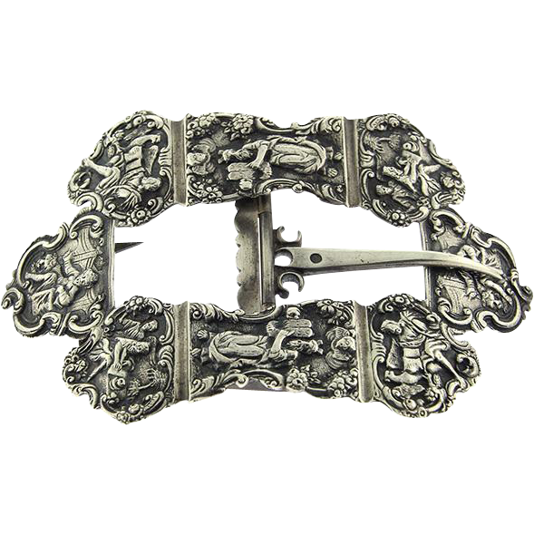 Dutch Silver Belt Buckle For The Day Of Atonement Amsterdam Netherlands 1909 Judaica.