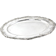 Odiot 950 Sterling Silver Meat Serving Dish Oval Platter Paris France Circa 1880.