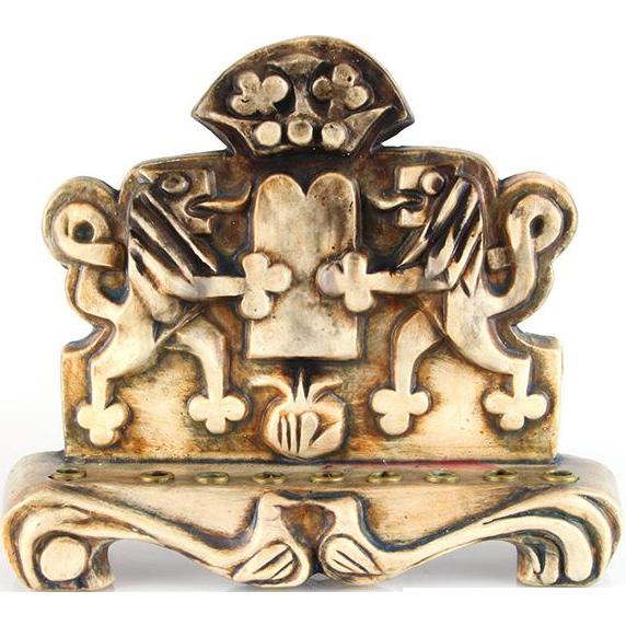 Eliezer Weishoff Ceramic Hanukkah Lamp Menorah Israel 1960's Judaica.