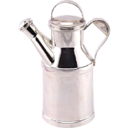 Novelty Silver Plated Milk Churn Cocktail Shaker Roberts & Belk Sheffield England Circa 1920.