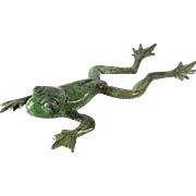 Ilana Goor Bronze Frog Figure Sculpture Signed Israeli Art.