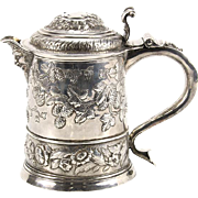Rare Queen Anne Britannia Standard Silver (958) Tankard, Robert Timbrell & Joseph Bell, London, England, 1712.
