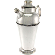 American Silver Plated Cocktail Shaker, Crescent Silverware MFG Co, 1930's.