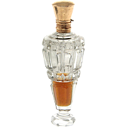 Dutch 14k Gold Mounted Cut Crystal Scent Bottle, 1853-1906.