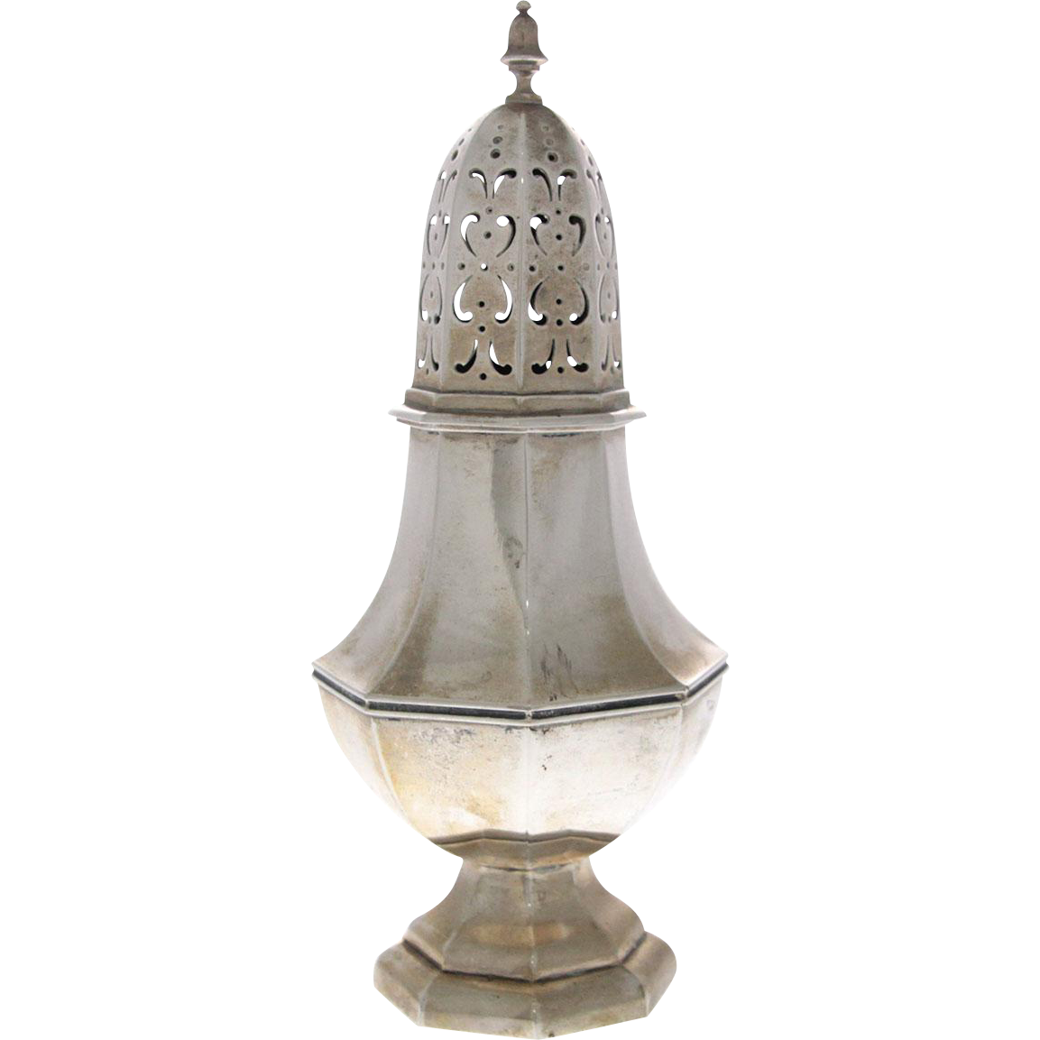 Dutch Silver Sugar Caster, Amsterdam, 1917.