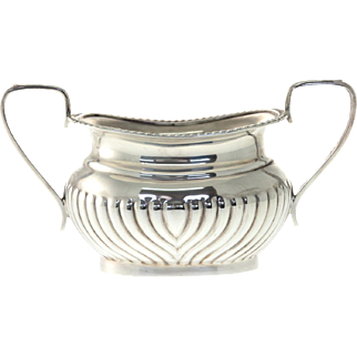 Sterling Silver Sugar Bowl, Emile Viner, Sheffield, England, 1964.