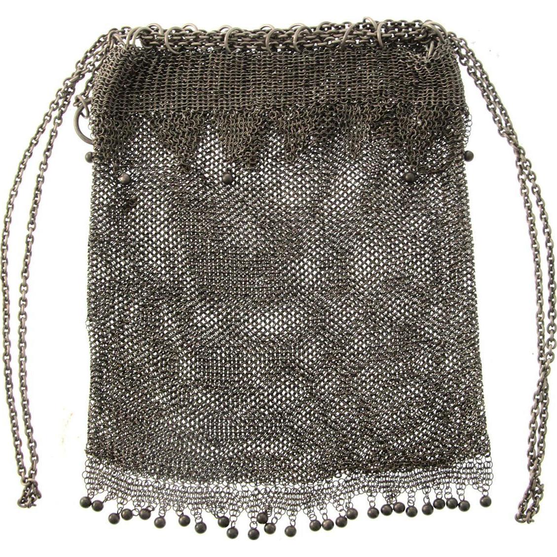 Silver Mesh Purse, Poland, Circa 1920.