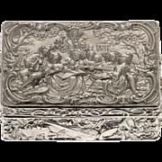 Silver Tobacco Snuff Box, Ludwig Neresheimer, Hanau, Germany, Circa 1900.